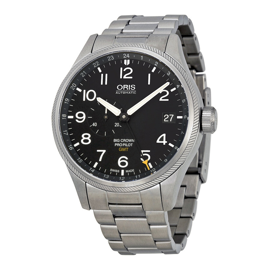 Oris big crown propilot gmt automatic men 39 s watch 748 7710 4164mb big crown oris watches for Oris watches