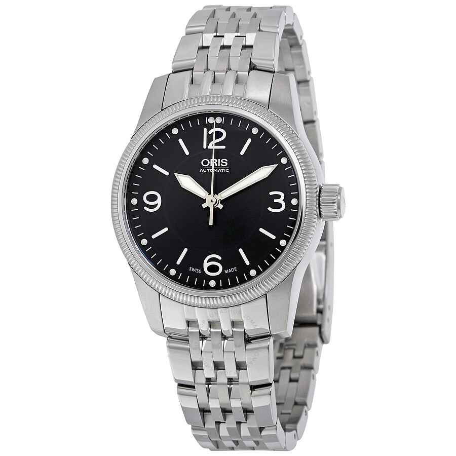 676fe4112fc6 Oris Big Crown Swiss Hunter Team PS Edition Black Dial Stainless Steel  Men s Watch 733- ...