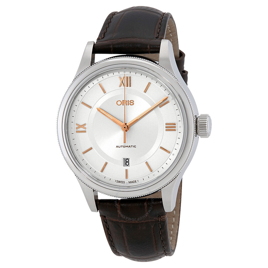 Oris classic automatic silver dial men 39 s watch 01 733 7719 4071 07 5 20 32 classic oris for Oris watches