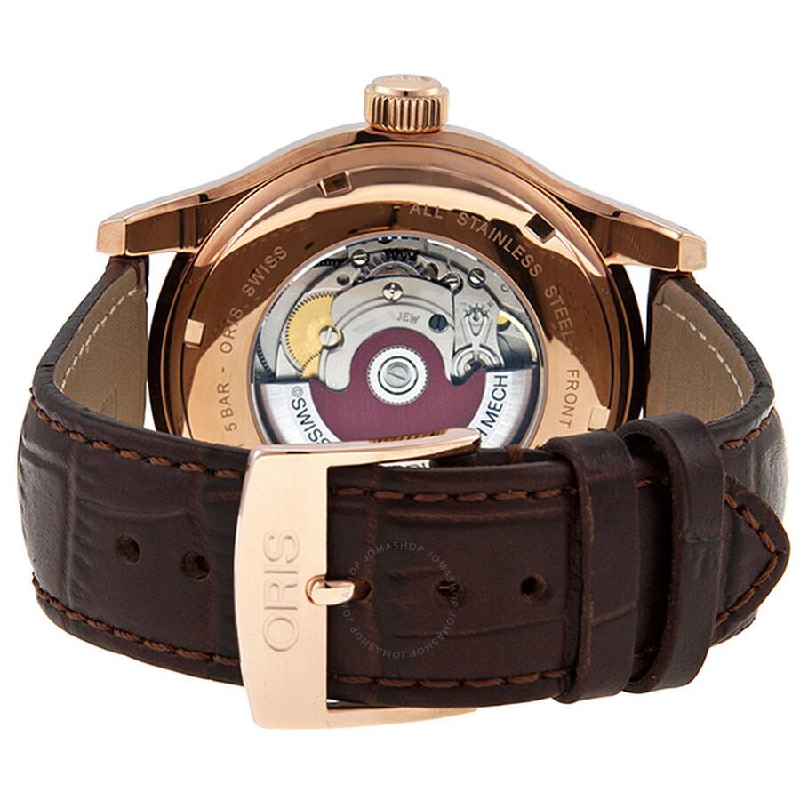c35d4a091c7 ... Oris Classic White Dial Rose Gold PVD Men s Watch 733-7594-4891LS ...