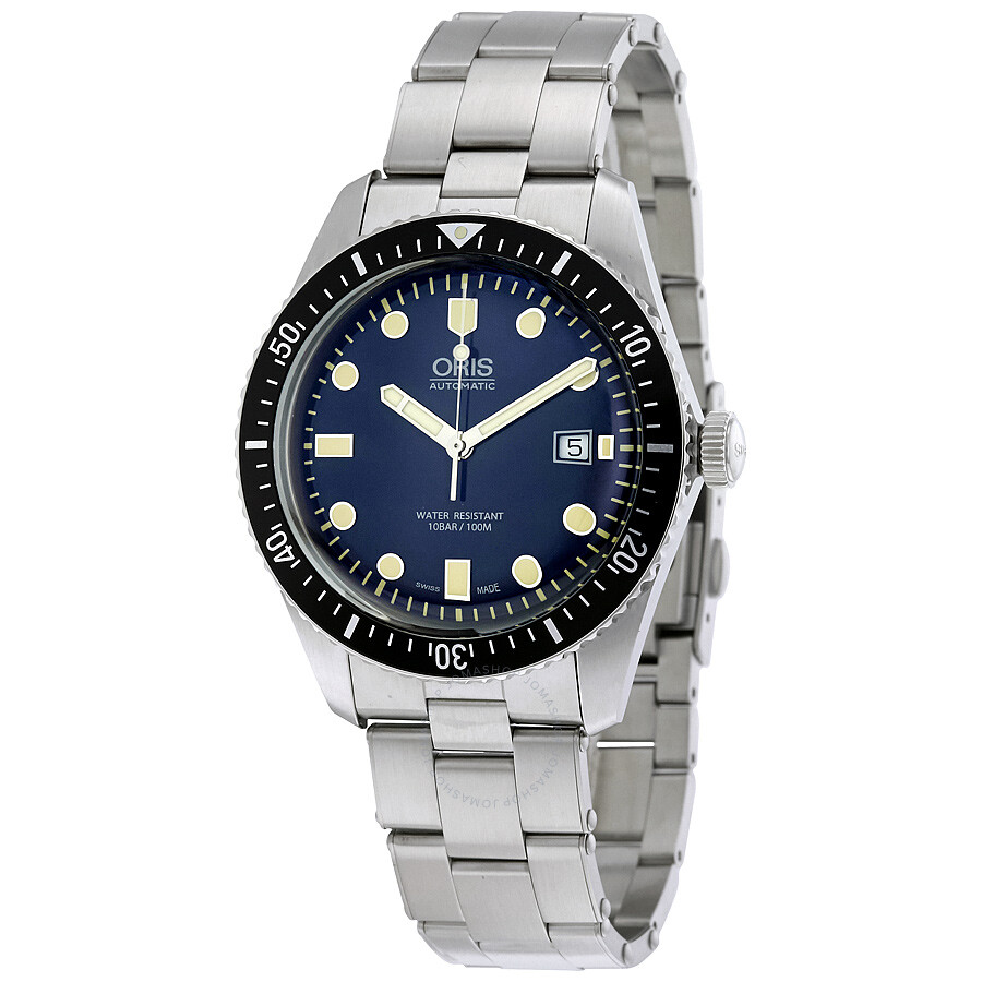Oris divers sixty five automatic blue dial men 39 s watch 01 733 7720 4055 07 8 21 18 divers for Oris watches