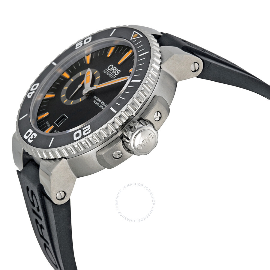 ... Oris Divers Small Seconds Automatic Black Dial Steel Men's Watch 743-7673-4159RS  ...