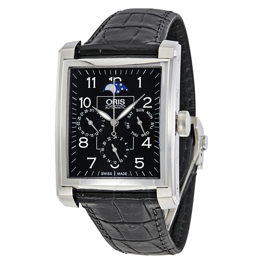 Oris Rectangular Automatic Black Dial Men's Watch 01 582 7658 4034-07 5 23  71FC ...