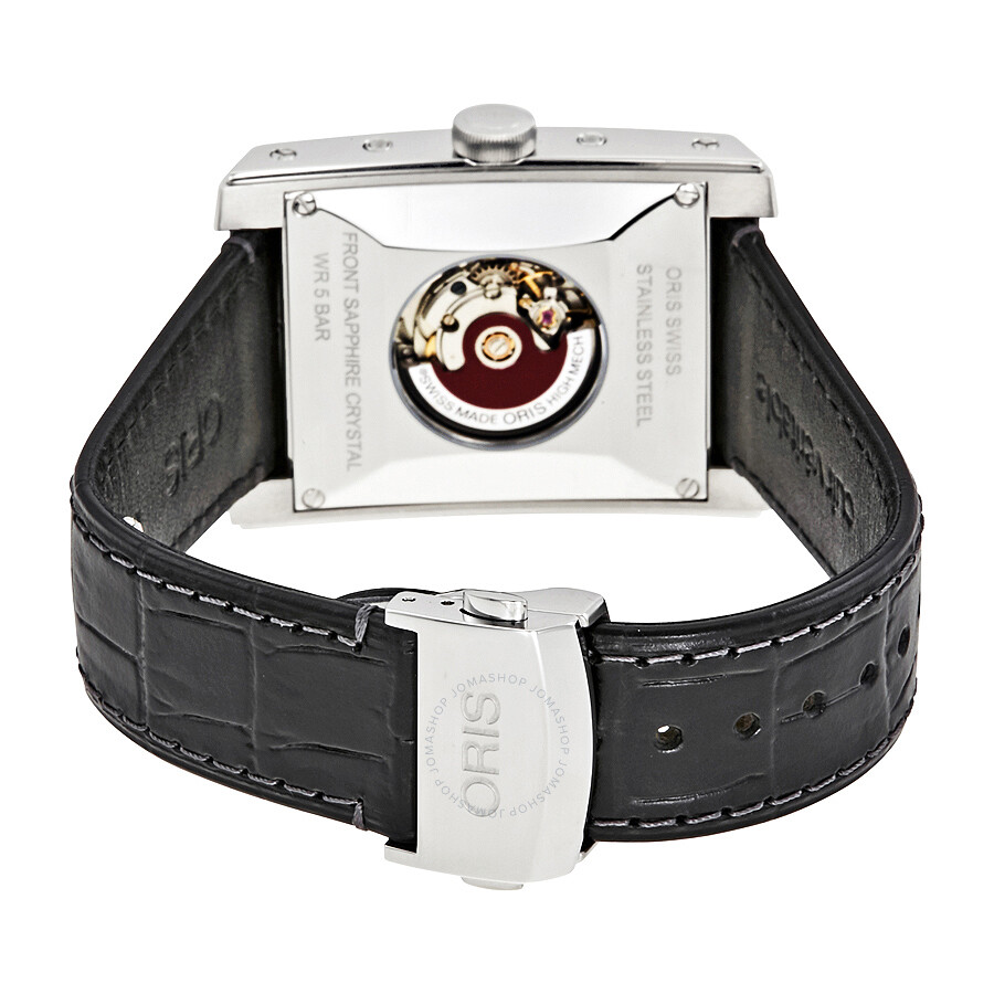 ... Oris Rectangular Automatic Black Dial Men's Watch 01 582 7658 4034-07 5  23 71FC