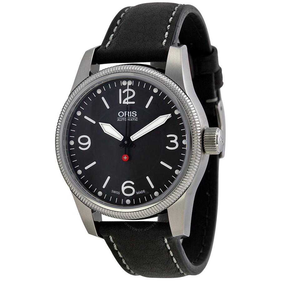 3fcb7b811797 Oris Swiss Hunter Team Black Dial Black Leather Men s Watch 733-7649-4063LS  ...