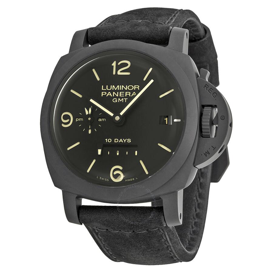 d170691baab Panerai Luminor 1950 10 Days Black Dial Black Leather Men s Watch PAM00335  ...