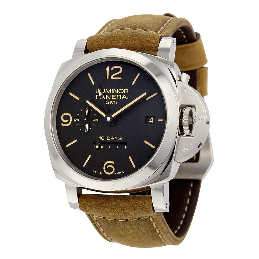 9ba09e0adb7 Panerai Luminor 1950 10 Days GMT Black Dial Men s Watch PAM00533 ...