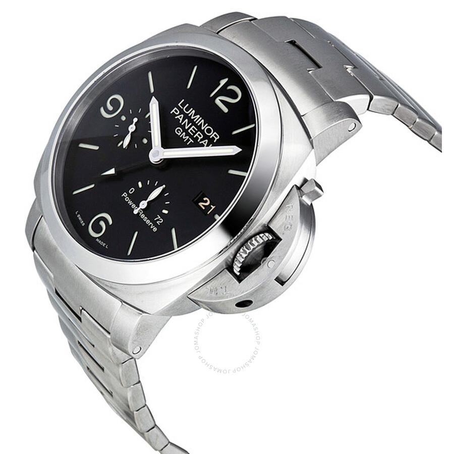 Panerai Luminor 1950 3 Days Black Dial GMT Automatic Stainless Steel Men s  Watch PAM00347 b69630e76f01