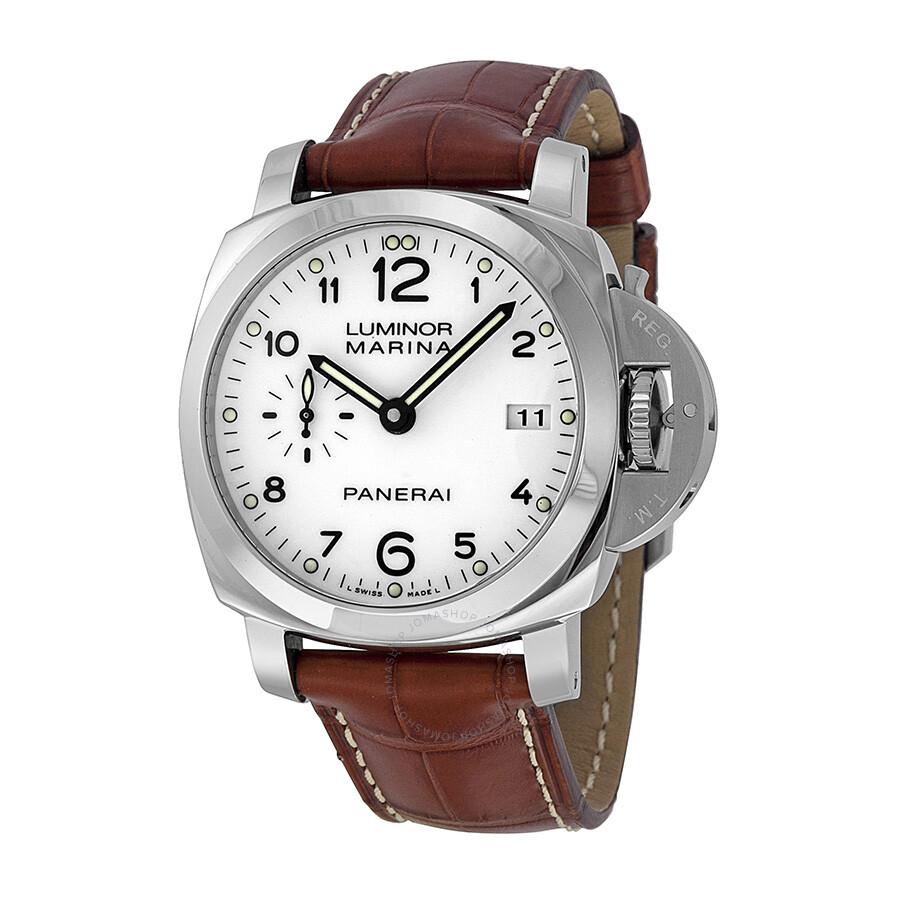 quality design 31e22 1470f Panerai Luminor 1950 Automatic White Dial Men's Watch PAM00523
