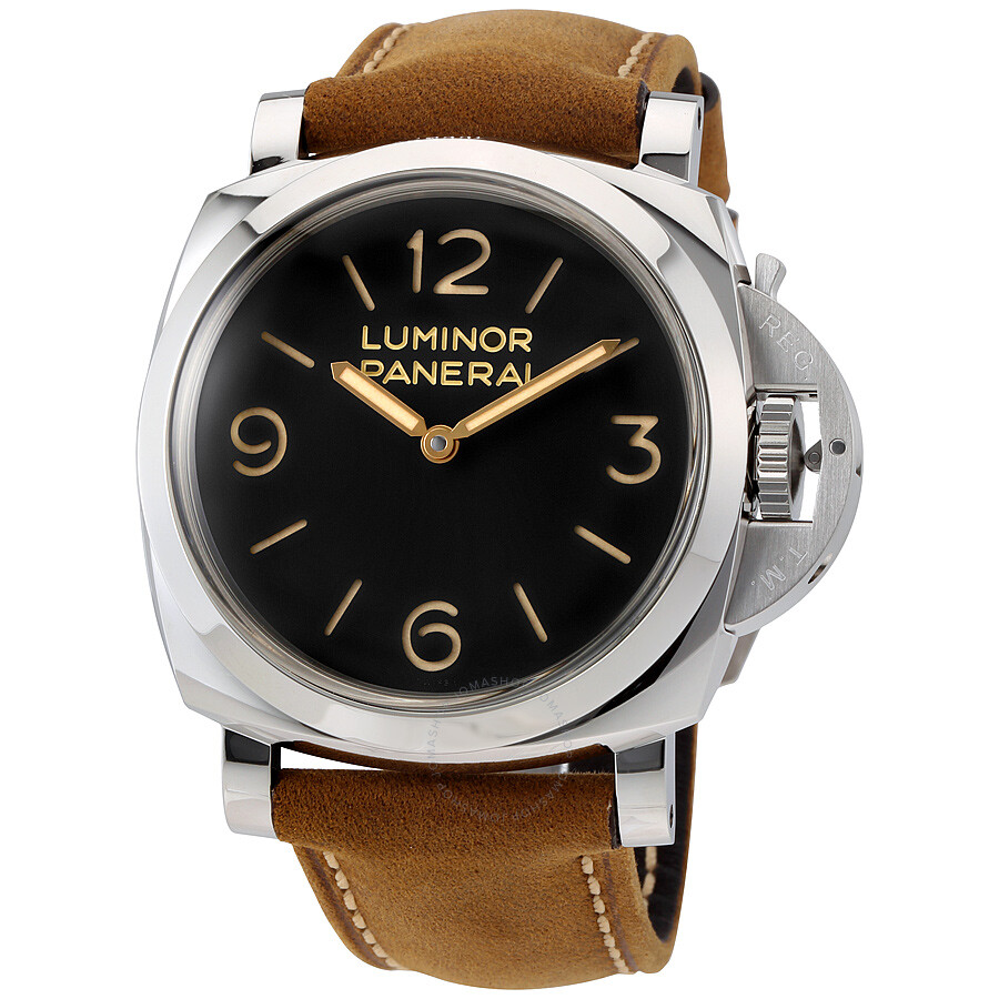 panerai luminor 1950 black dial leather men 39 s watch pam00372 luminor 1950 panerai watches