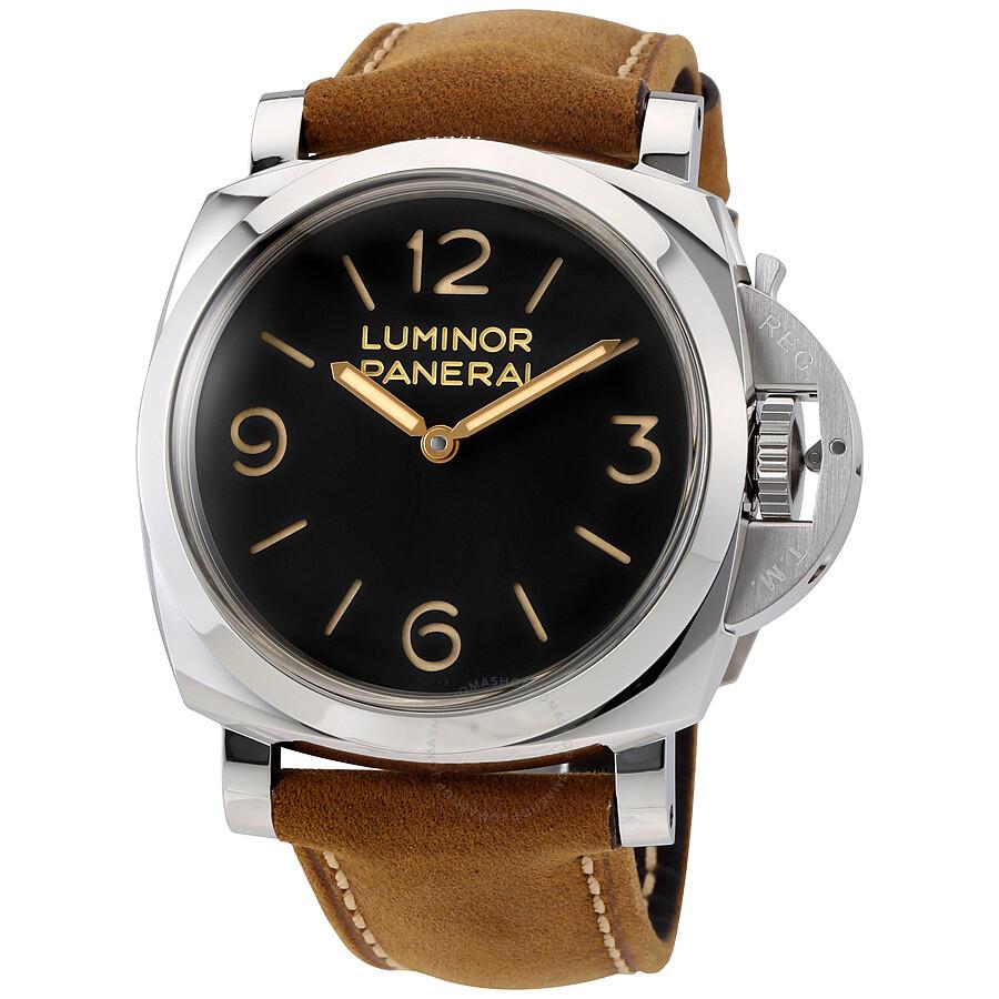 panerai luminor 1950 black dial leather men 39 s watch pam00372 luminor 1950 panerai watches