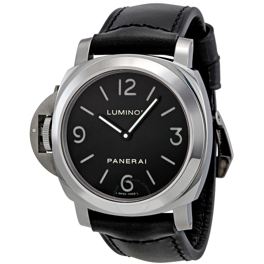 buy popular 77e88 759a8 Panerai Luminor Base Black Dial Mechanical Men's Watch PAM00219