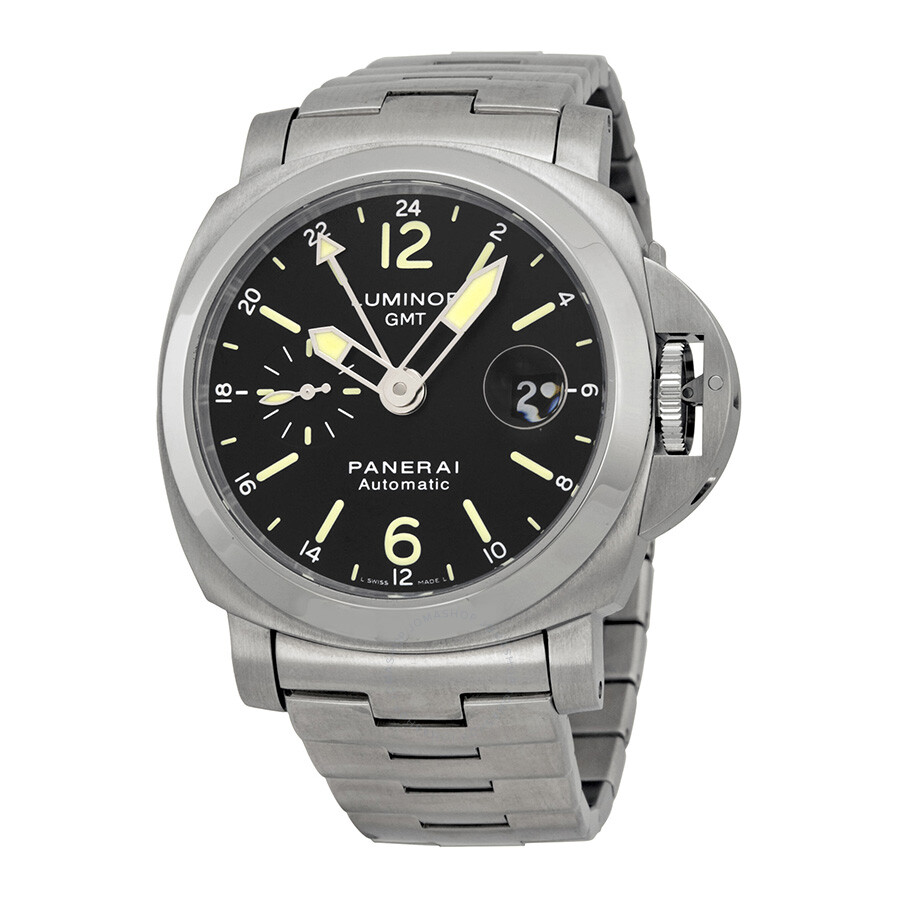 panerai luminor gmt black stainless steel s