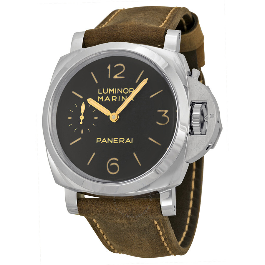 panerai luminor marina 1950 3 days black dial brown leather men 39 s watch pam00422 luminor. Black Bedroom Furniture Sets. Home Design Ideas