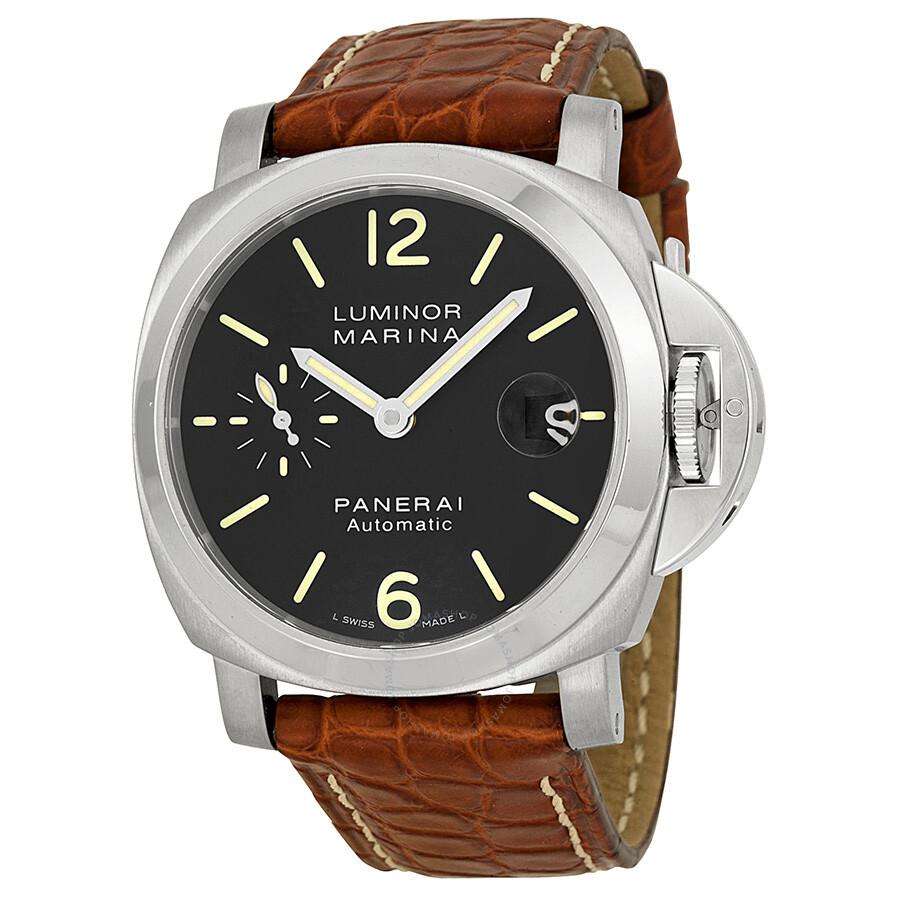 panerai luminor marina black dial automatic men s watch pam00048