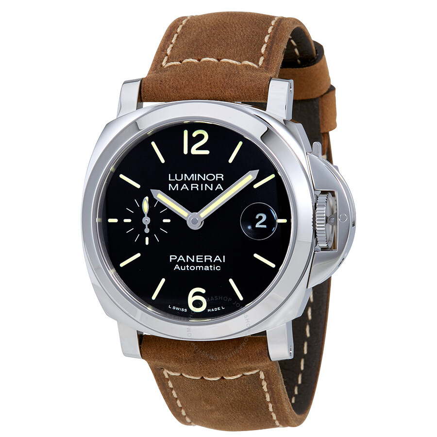 panerai luminor marina black dial automatic men 39 s watch pam01048 luminor marina panerai. Black Bedroom Furniture Sets. Home Design Ideas