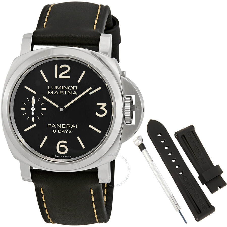panerai luminor marina black dial black leather men 39 s watch pam00510 luminor marina panerai. Black Bedroom Furniture Sets. Home Design Ideas