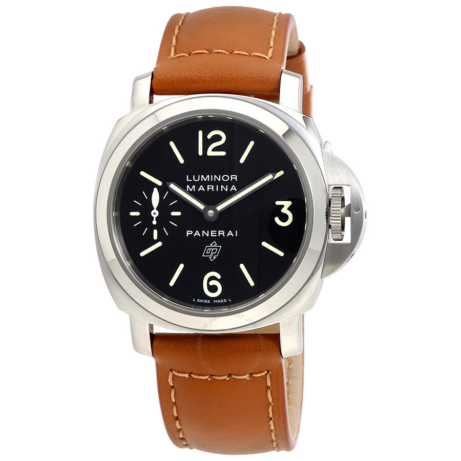 panerai luminor marina black dial men 39 s watch pam01005 luminor marina panerai watches. Black Bedroom Furniture Sets. Home Design Ideas