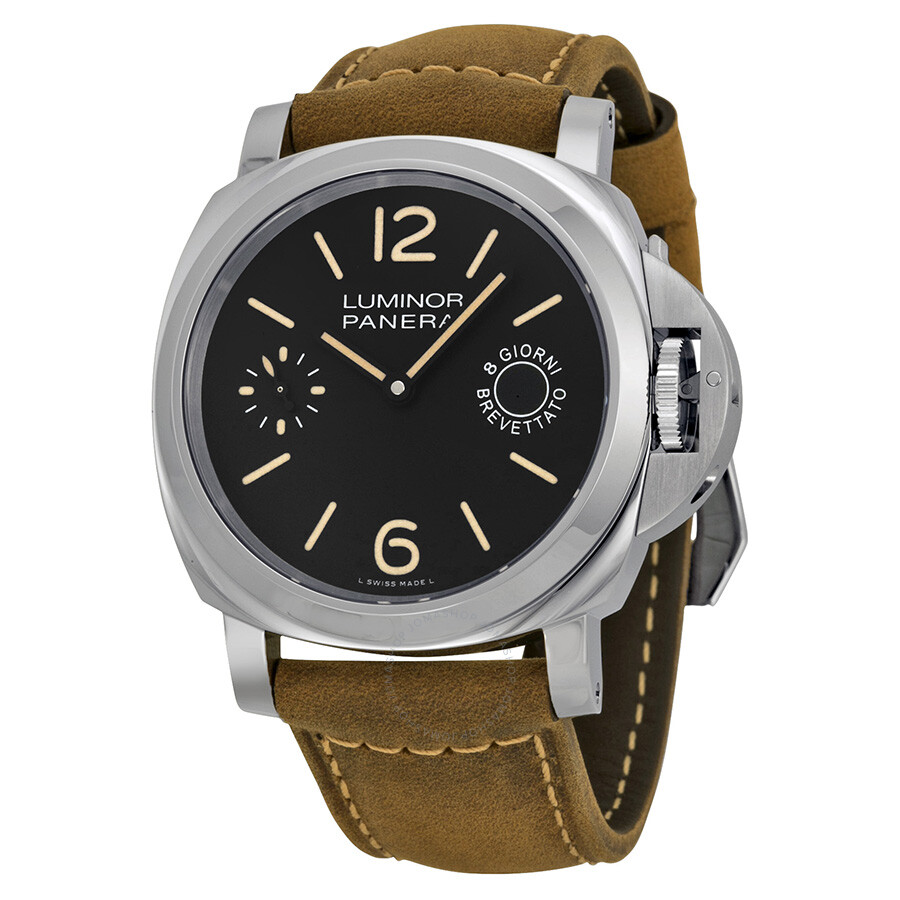 panerai luminor marina black dial tan leather men 39 s watch pam00590 luminor marina panerai. Black Bedroom Furniture Sets. Home Design Ideas
