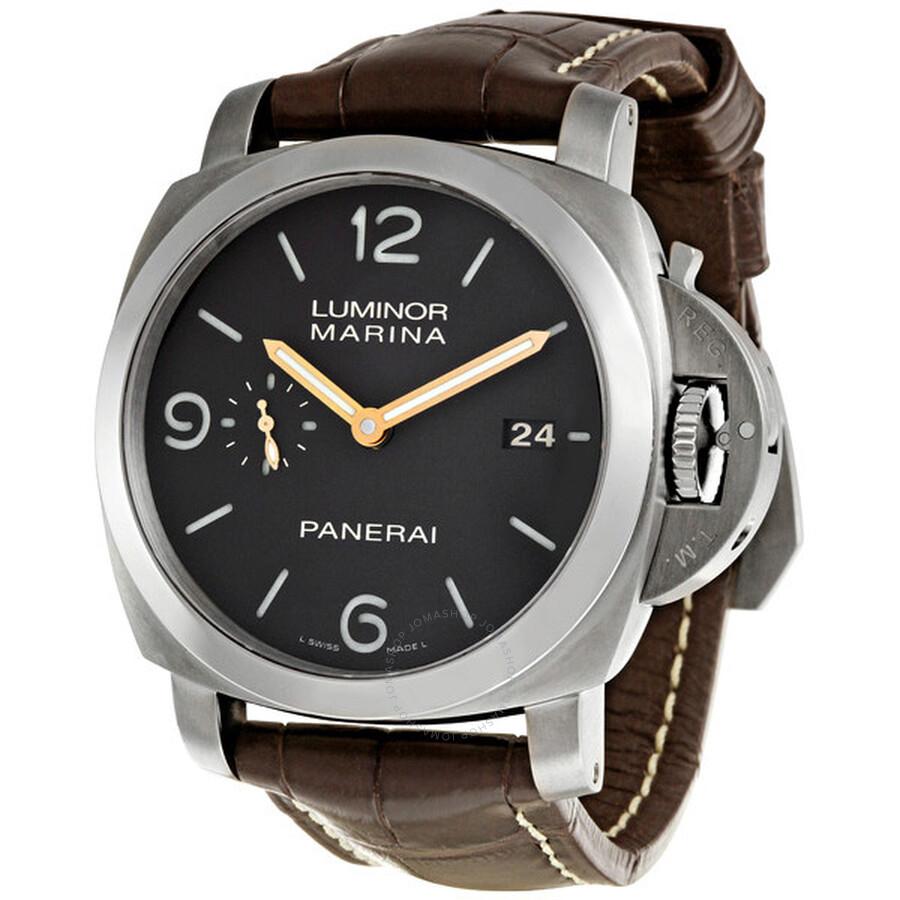 panerai luminor titanium men 39 s watch 00351 luminor panerai watches jomashop On panerai watches