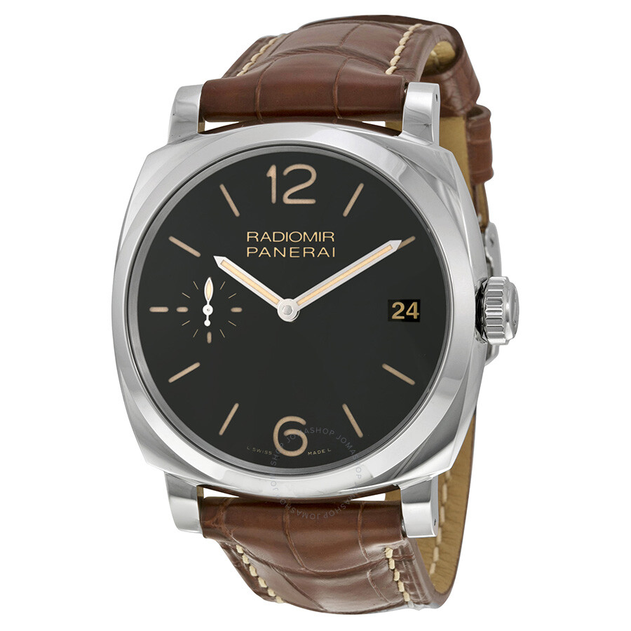 panerai radiomir 1940 black dial brown leather men s watch panerai radiomir 1940 black dial brown leather men s watch pam00514