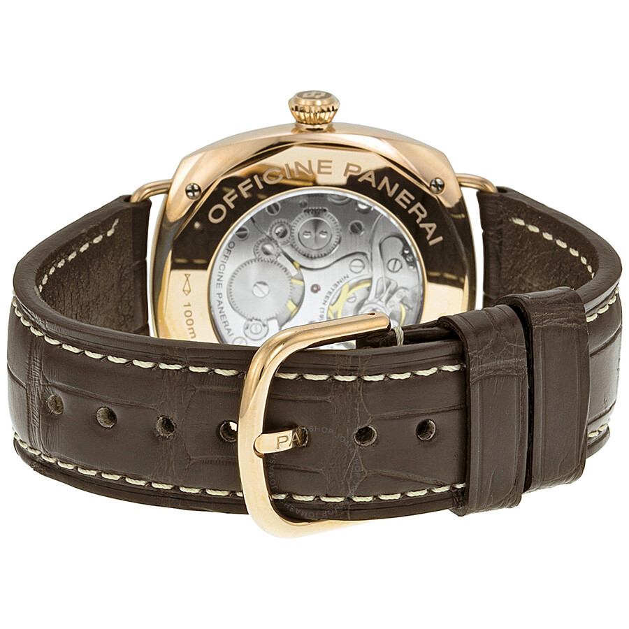 Panerai Radiomir Oro Rosso Manual Wind Brown Dial 18 kt Rose Gold Men's  Watch PAM00439