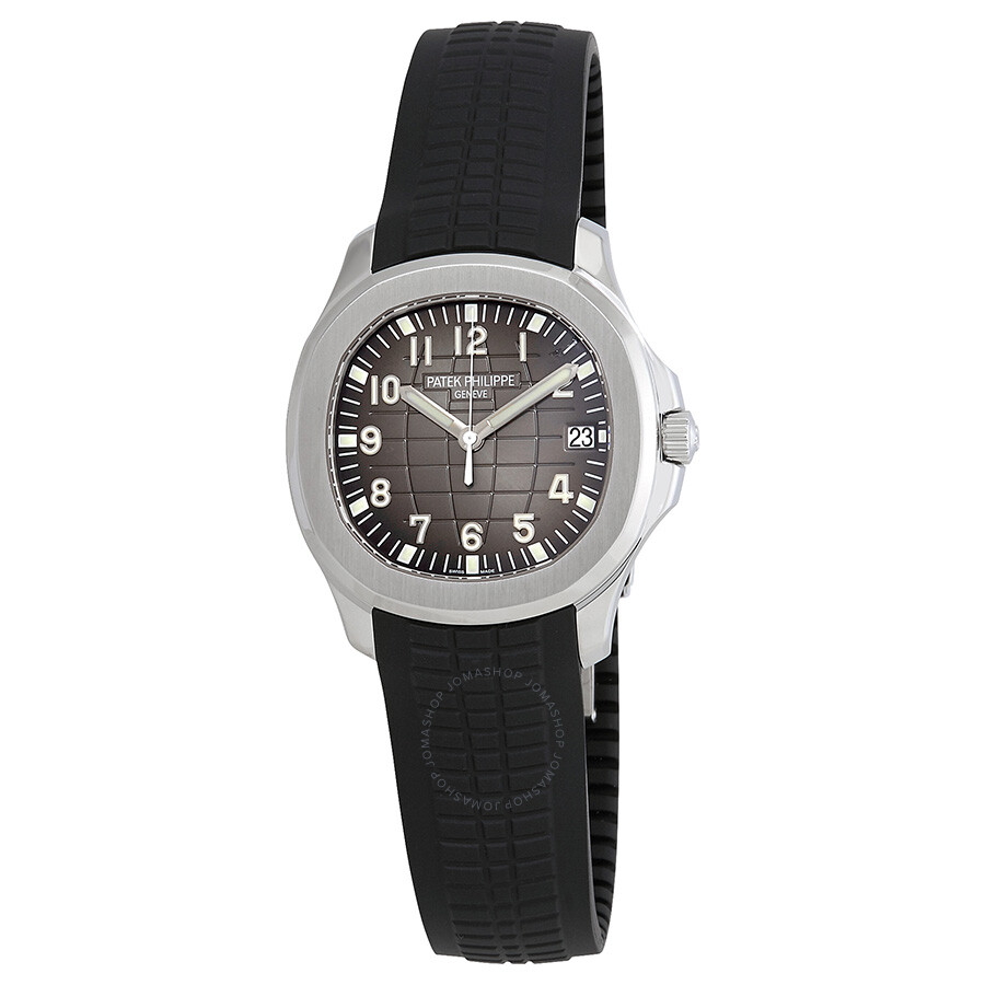Patek philippe aquanaut automatic black dial stainless steel men 39 s watch 5167a 001 aquanaut for Patek watches