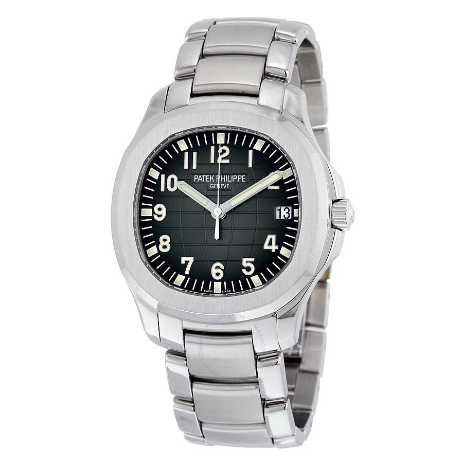 Patek philippe aquanaut black dial stainless steel automatic men 39 s watch 5167 1a aquanaut for Patek watches