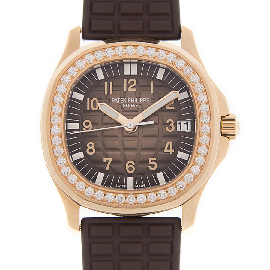 c936f09f5fd Patek Philippe Aquanaut Luce Automatic Diamond Grey Dial Ladies Watch 5068R