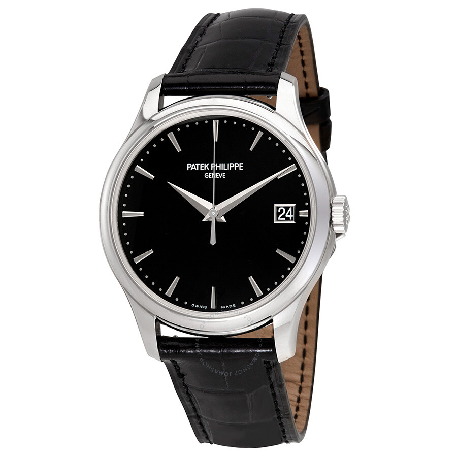 Patek Philippe Calatrava Black Dial Automatic Men's Watch 5227G-010 ...