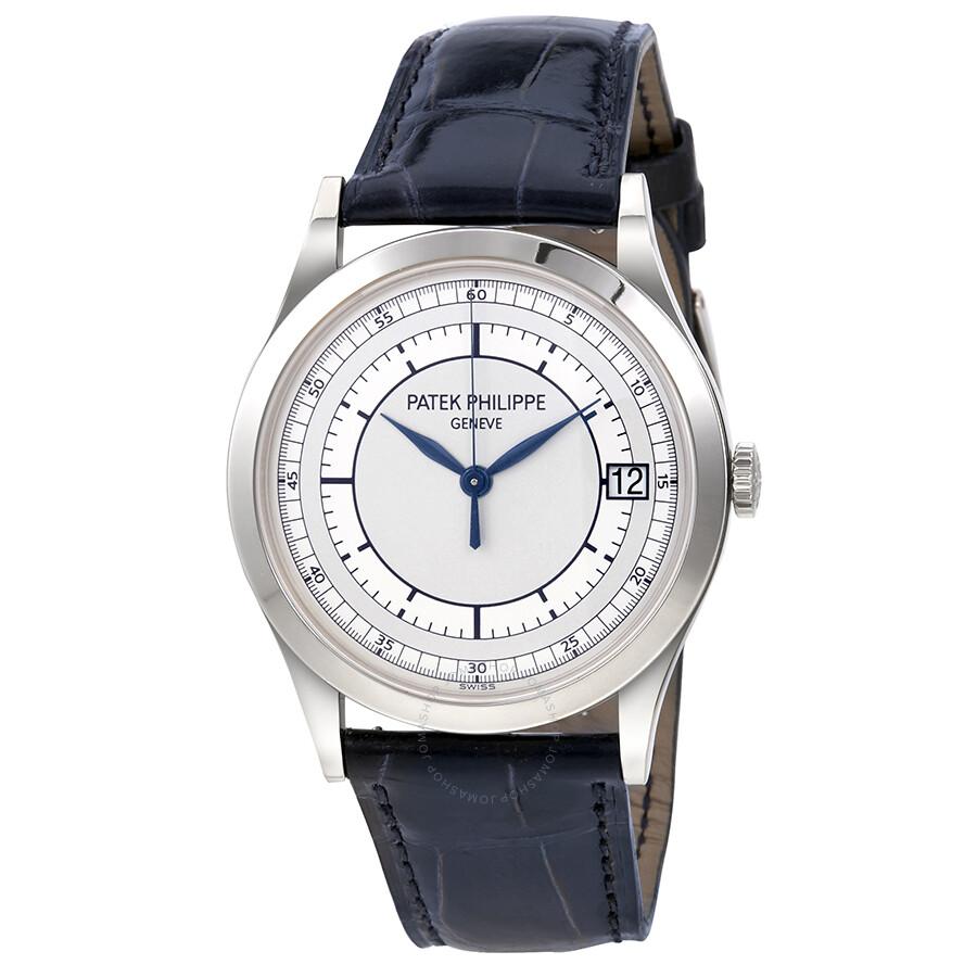 Patek philippe calatrava automatic silver dial 18kt white gold men 39 s watch 5296g 001 calatrava for Patek watches
