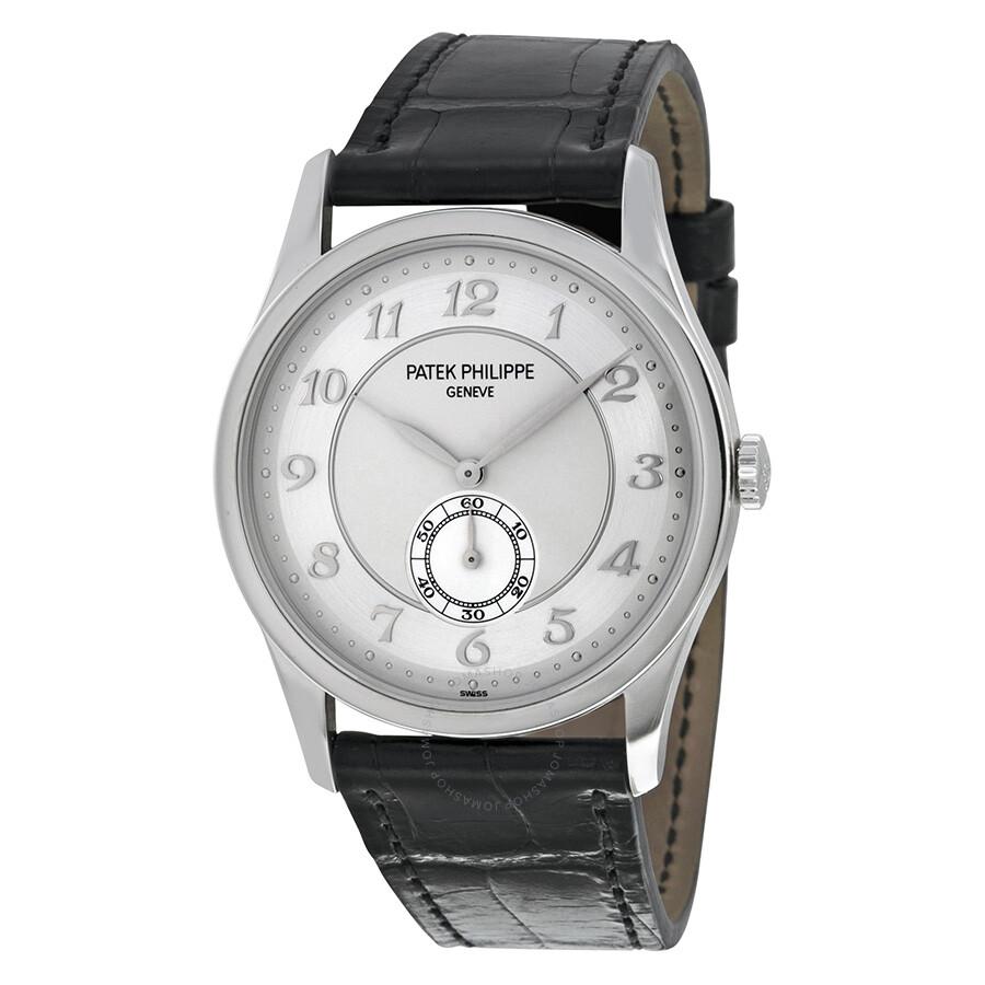 Patek Philippe Calatrava Automatic Silver Grey Dial Platinum Men's Watch  5196P-001 ...