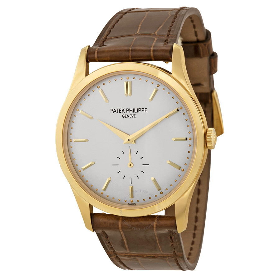 Patek philippe calatrava mechanical opaline white dial men 39 s watch 5196j 001 calatrava patek for Patek philippe
