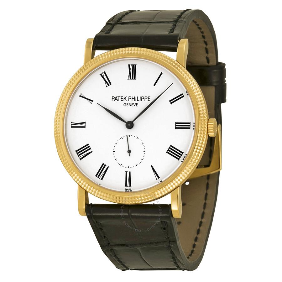 Patek philippe calatrava mechanical white dial men 39 s watch 5119j 001 calatrava patek for Patek watches