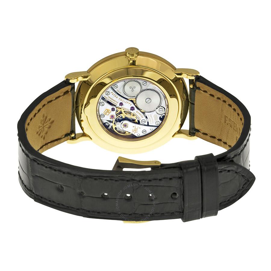 ... Patek Philippe Calatrava Mechanical White Dial Leather Men's Watch  5119J-001