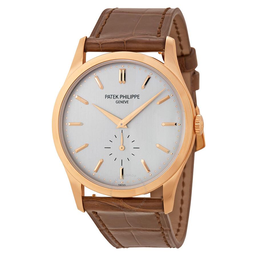 Patek philippe calatrava opaline dial 18k rose gold men 39 s watch 5196r 001 calatrava patek for Patek watches