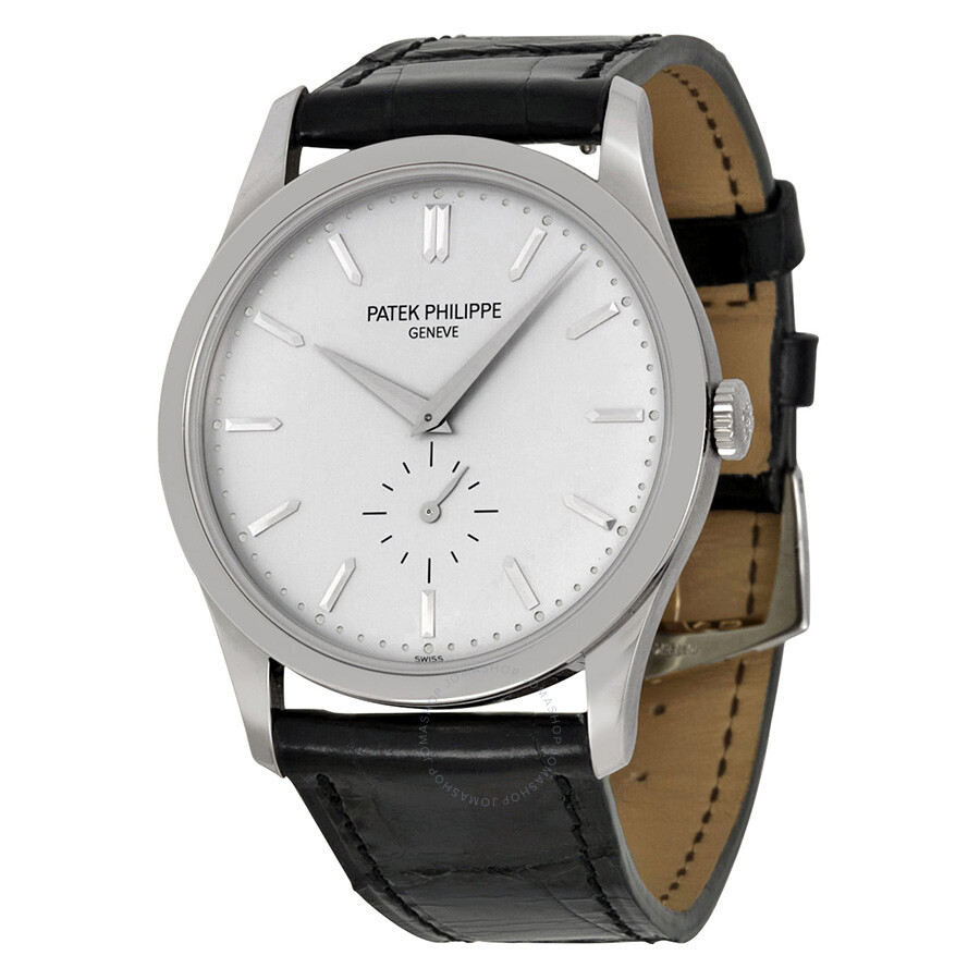 Patek philippe calatrava silver dial 18 kt white gold men 39 s watch 5196g 001 calatrava patek for Patek philippe