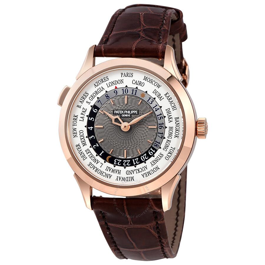 8c4457d7b20 Patek Philippe Complications Automatic World Time 18kt Rose Gold Men s  Watch 5230R ...