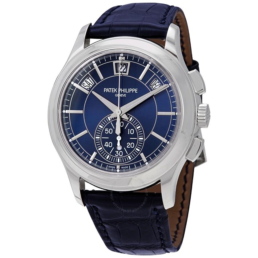 9c67ecc9d3c Patek Philippe Complications Blue Dial Annual Calendar Platinum Men s Watch  5905P-001 ...