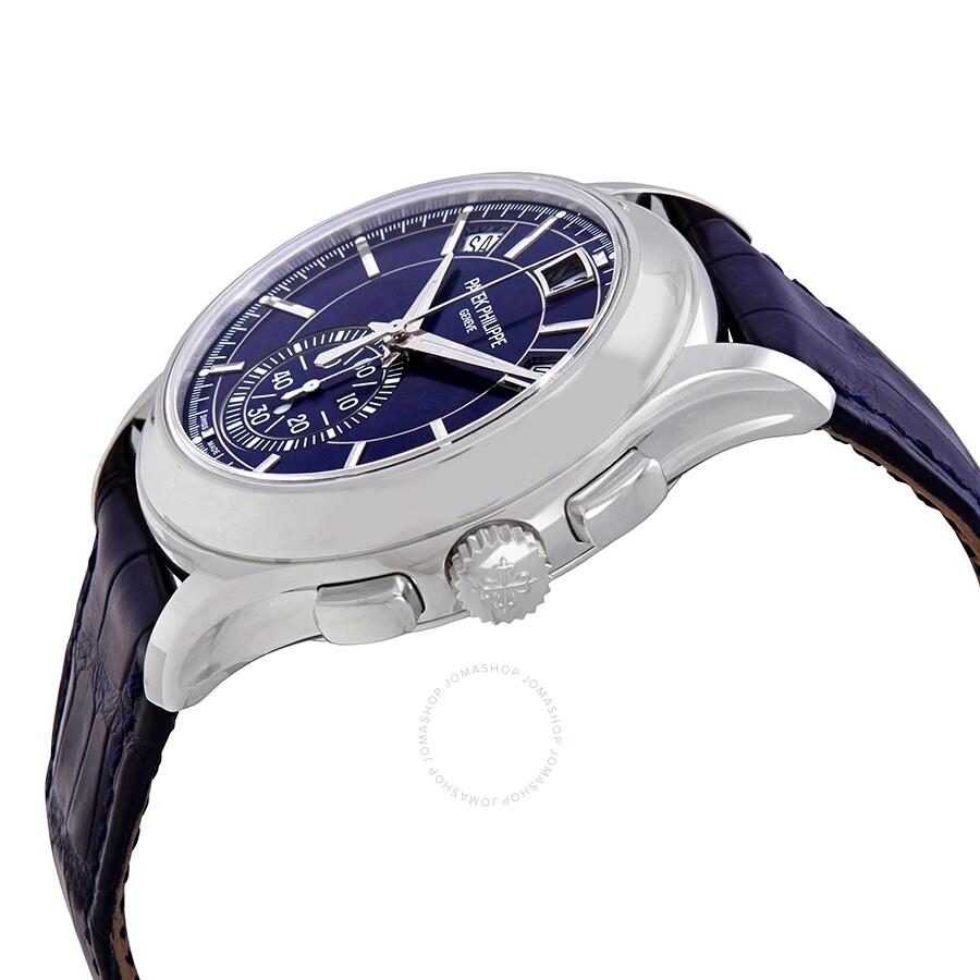 a415ac45206 ... Patek Philippe Complications Blue Dial Annual Calendar Platinum Men s  Watch 5905P-001 ...