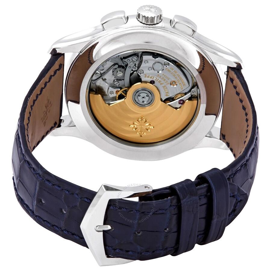 8a953366e9c ... Patek Philippe Complications Blue Dial Annual Calendar Platinum Men s  Watch 5905P-001
