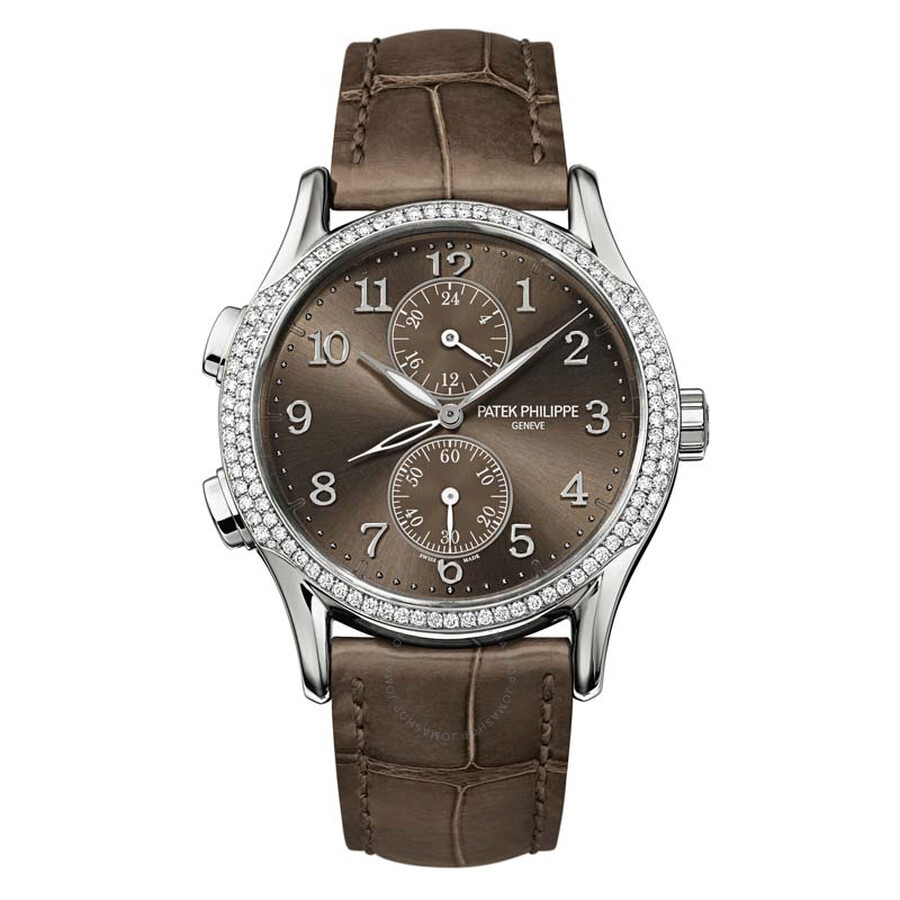Patek philippe complications brown dial ladies watch 7134g 001 grand complications patek for Patek philippe women