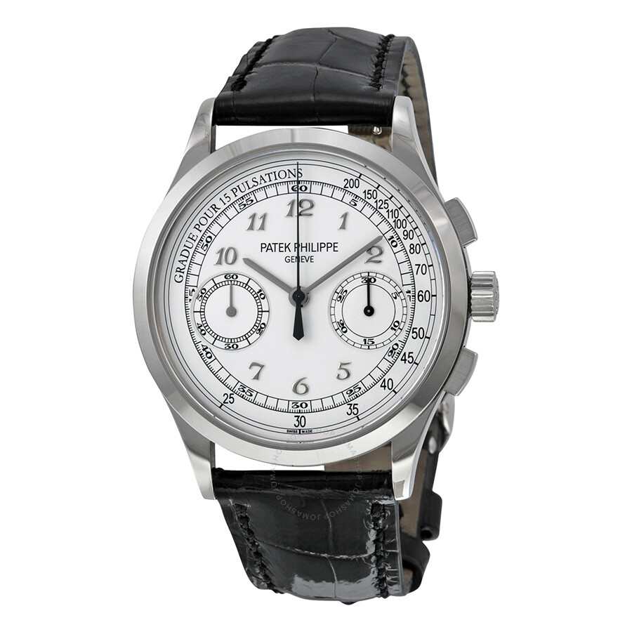 Patek Philippe Complications Chronograph Silvery White Dial Men S Watch 5170g 001