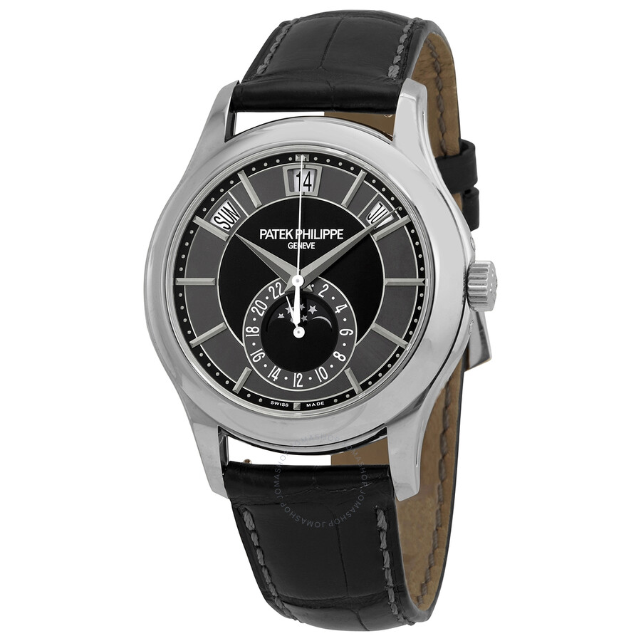 Patek Philippe Complications Mechanical Black And Grey Dial Men S Watch 5205g 010