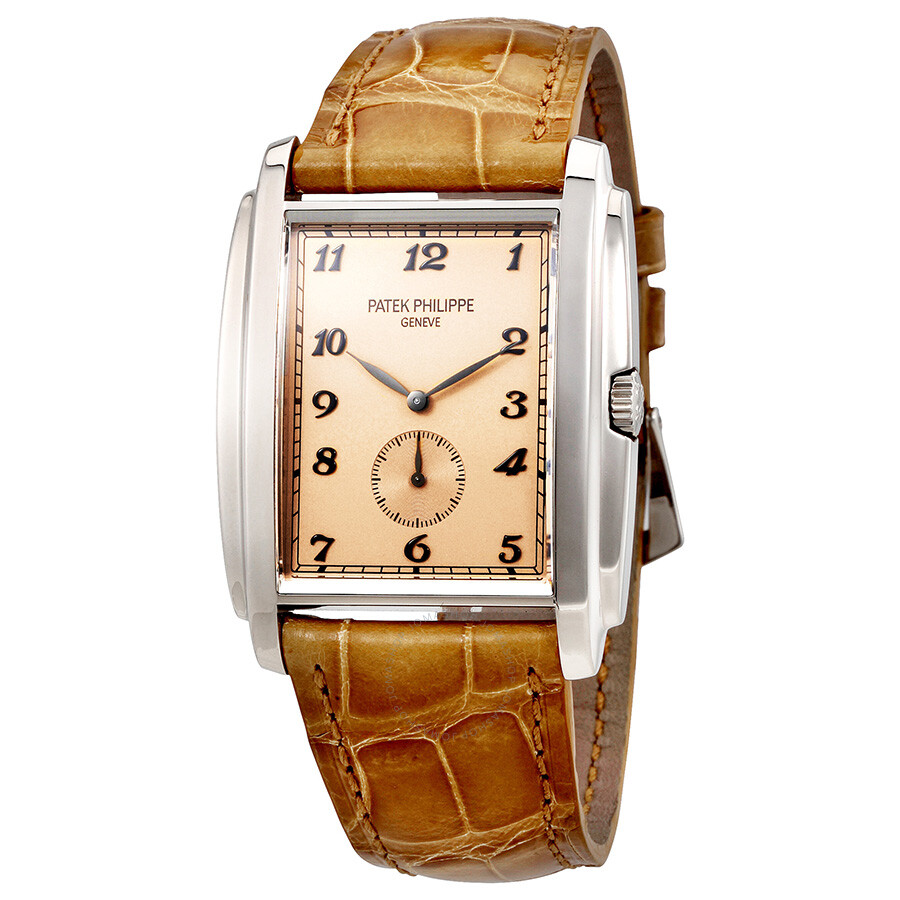 Patek philippe gondolo manua vintage rose dial leather men 39 s watch 5124g 001 gondolo patek for Patek philippe