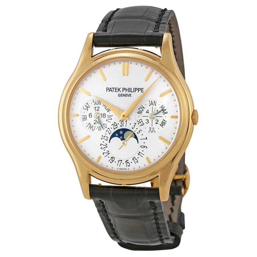 Patek philippe grand complication white dial 18kt yellow gold men 39 s watch 5140j 001 grand for Patek philippe