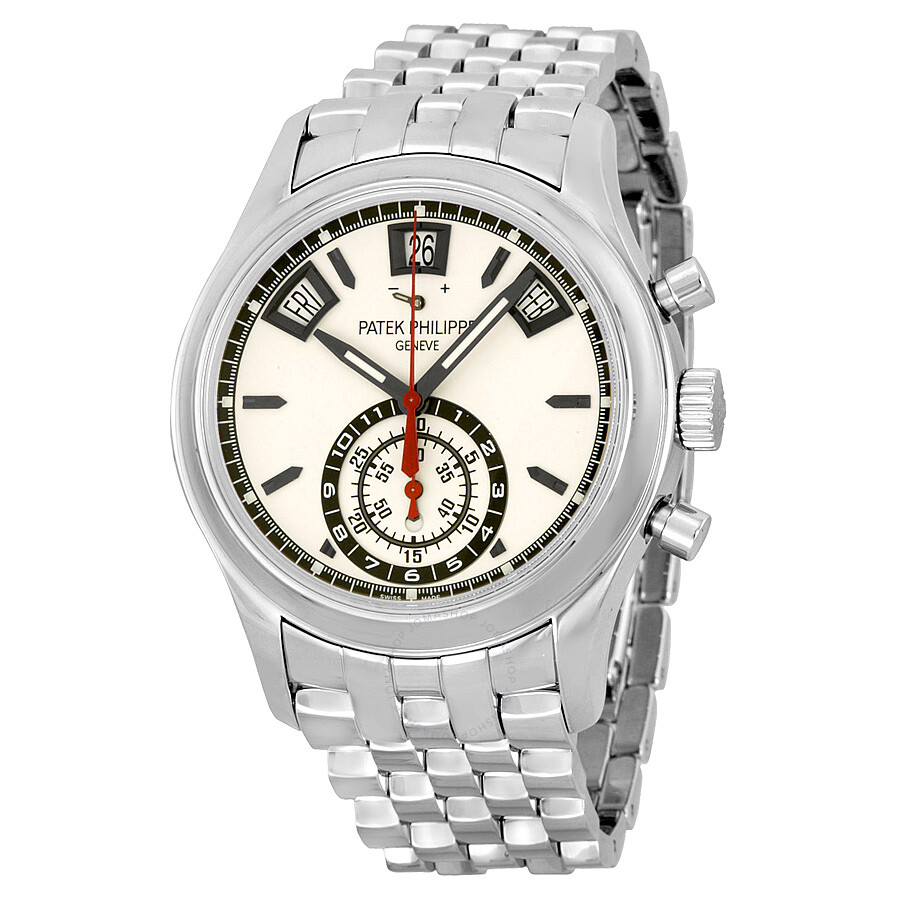 patek philippe grand complications chronograph silver dial stainless steel men 39 s watch 5960 1a
