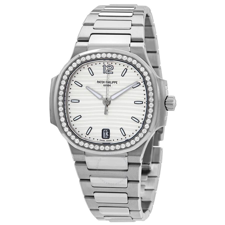 Patek Philippe Nautilus Automatic Diamond Silver Dial Unisex Watch