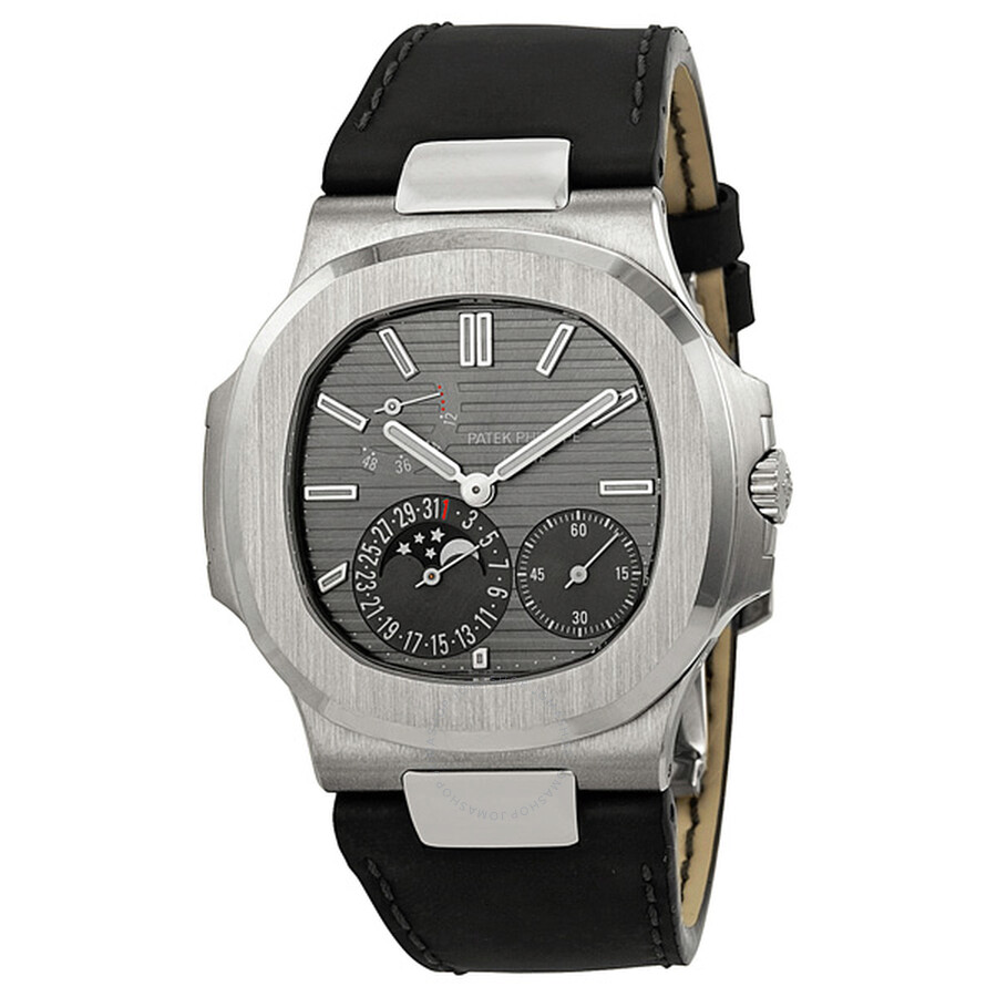 Patek philippe nautilus automatic moonphase slate grey dial men 39 s watch 5712g 001 nautilus for Patek watches