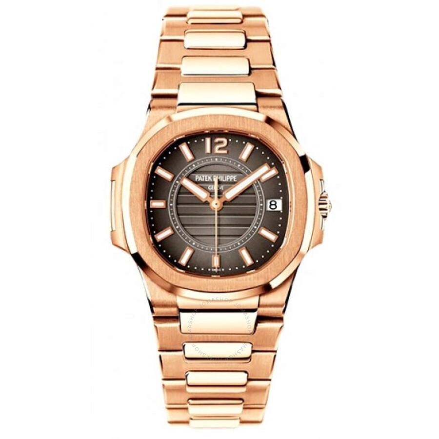 Patek Philippe Nautilus Grey Dial 18k Rose Gold Ladies Watch